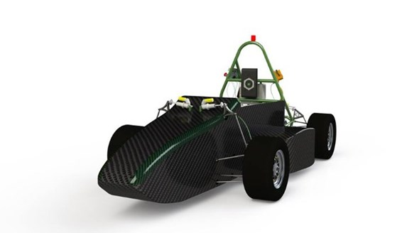 Electric car racing with Omnical parts